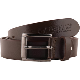 Fashno Men Brown Genuine  Leather Belt (FBT-507-BRN)