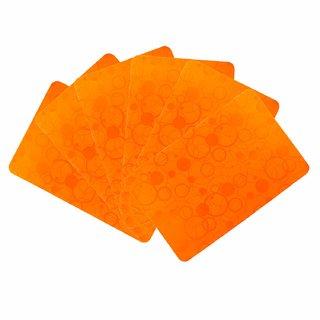 KHUSHI CREATION PVC Plastic Designer Fridge Drawer Mats  Dinning Table Mat  Kitchen Mat  Set of 6 (Orange,Set of 6)