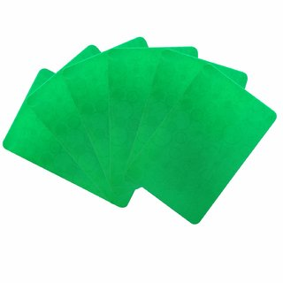 KHUSHI CREATION PVC Plastic Designer Fridge Drawer Mats  Dinning Table Mat  Kitchen Mat  Set of 6 (Green,Set of  6)