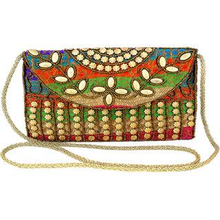Utkars fashion Vintage Ethnic Handmade Beautiful Rajasthani embroidery Sling Bag for women and girls