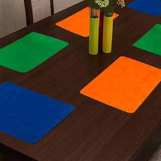 KHUSHI CREATION Designer Fridge Drawer Mats Dinning Table Mat Kitchen Mat (Multicolor Set of 6)