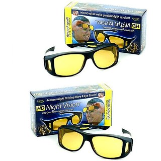 4a7aa63cdfa Buy BUY 1 GET 1 FREE HD Wrap Arounds Night NV Night Vision Night Driving  Glasses Yellow Color Glasses (AS SEEN ON TV) Online - Get 74% Off