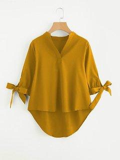 Rimsha women's wear mustard high low tunic