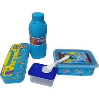 kids student lunch box,water bottel,pencil box combo set for kids and return gift(pack of 1)