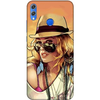 Digimate Printed Designer Soft Silicone TPU Mobile Back Case Cover For  Huawei Honor 8X