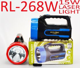 ROCK LIGHT 15W JUMBO Rechargeable 2 in 1 High Power LED Flash Light, Night Torch