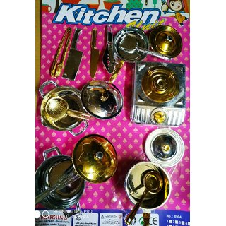 JOJOSS Plastic Kitchen Toy Set 17 Pcs for Girls