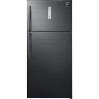 Samsung 670 L 3 Star Frost Free Double Door Refrigerator RT65K7058BS/TL, Black inox, Convertible, Inverter Compressor