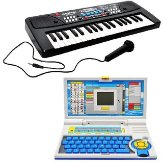 New Pinch Combo of 37 Key Piano Keyboard Toy with DC Power Option, Recording and Mic with English Learner Educational La