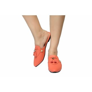 Gibelle Women's Peach Mules Look Alive