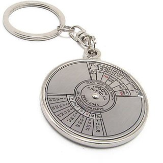 Compass Date Perpetual with Calendar up-to 50 Years Key Chain
