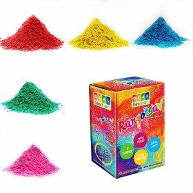 DealBindaas Rangotasav Holi Colour Herbal Gulal 250 Gms 5 Shades NonToxic  Eco Friendly  100 Safe Holi Color Powder