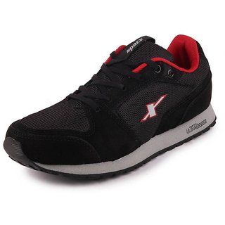 Sparx Men's Black Red Suede Sports Running Shoes