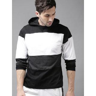 Buy PAUSE Multicolor Stripes Hooded Slim Fit Full Sleeve Men's T-Shirt  Online - Get 56% Off