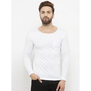 0d9f02edcc4 Buy PAUSE Black Solid Cotton Round Neck Slim Fit Long Sleeve Men's T ...