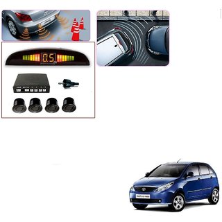 Auto Addict Car Black Reverse Parking Sensor With LED Display For Tata Indica Vista