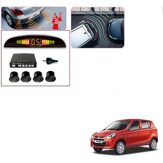 Auto Addict Car Black Reverse Parking Sensor With LED Display For Maruti Suzuki Alto 800