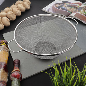 Styleco Stainless Steel 20 cm Colander Basket (Pack of 1)