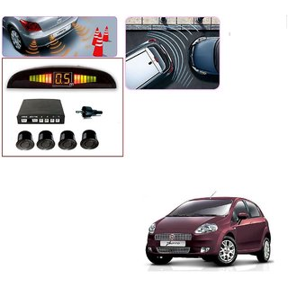Auto Addict Car Black Reverse Parking Sensor With LED Display For Fiat Punto