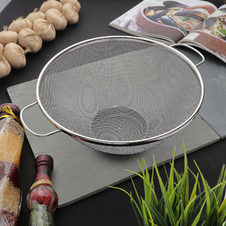 Styleco Stainless Steel 23 cm Colander Basket (Pack of 1)