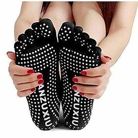 CuraFoot 1 Pair Women Socks Fingers Yoga Gym Yoga Dance Fitness Sport Exercise Complete Five Fingers Socks Anti-Skid Poi