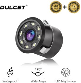 Dulcet LED 170 Degree Waterproof Rear View Backup Camera with HD Infrared Night Vision for Truck and Cars
