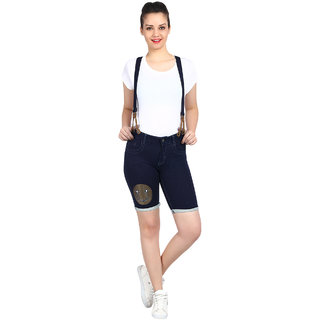 Kotty Women's Blue Dungaree shorts