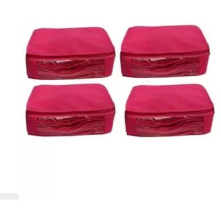 Zadmus Pink box Saree Covers - 4 Pcs