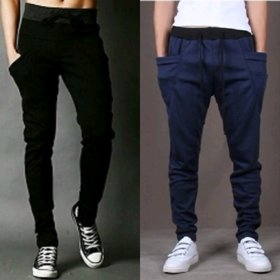 Pack of 2 Trackpants Black  Navy by Exasize