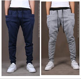 Pack of 2 Men's Trackpants Navy Grey by Exasize NR