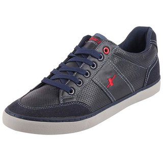Sparx Men's Navy Grey Lace Up Sneakers Casual Shoes
