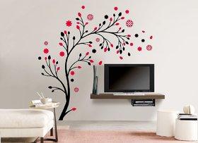 Ghar Kraft magical tree Vinyl Multicolor Wall Sticker (Pack of 1)