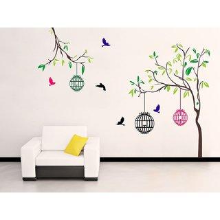 Ghar Kraft Free bird case Wall Sticker