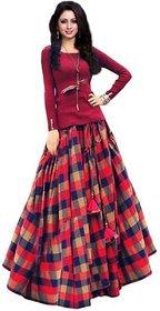 Florence Women's Multicolored Art Silk Semi Stitched Lehenga Choli (AN3462)