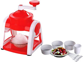 RSTC ICE GOLA MAKER HANDHELD ICE CRUSHER,SLUSH MAKER MACHINE FOR MAKING GOLA IN SUMMER FOR HOME WITH 3 PLASTIC BOWL1 CUP