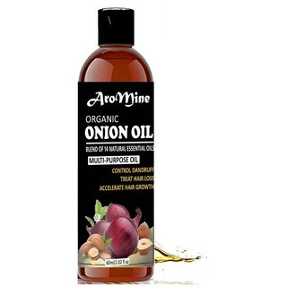 AroMine Onion Herbal Hair Oil for Hair Growth, Hair Fall Treatment, Anti-Dandruff Unisex 60ml