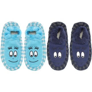 Top N Toe Soft Cotton 1 Pair Women Blue Booties Cum Indoor Slipper BT366