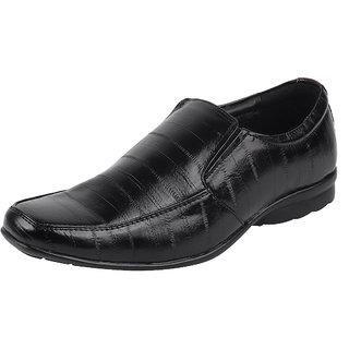 Bata Mens Black Formal Slip On Shoes