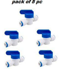 RO Manual Flush Valve And Manualy TDS Controller  Pack of 5 pcs. for RO Water Purifier