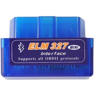 (Blue) ELM 327 Mini OBD2 OBD-II Bluetooth Car Auto Diagnostic Interface  Scanner Tool