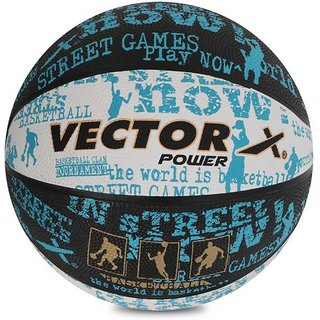 Vector X POWER-BLACK-WHITE-BLUE-3 Basketball - Size 3 (Pack of 1 Multicolor)