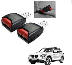 Auto Addict Car Seat Belt Extender Buckle Black Color Set of 2 Pcs For BMW X1