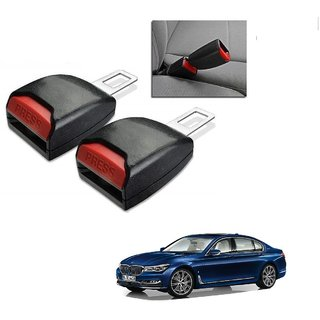Auto Addict Car Seat Belt Extender Buckle Black Color Set of 2 Pcs For BMW 7 Series