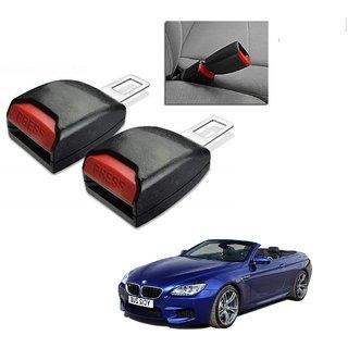 Auto Addict Car Seat Belt Extender Buckle Black Color Set of 2 Pcs For BMW 6 Series