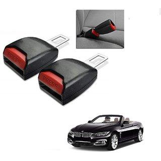 Auto Addict Car Seat Belt Extender Buckle Black Color Set of 2 Pcs For BMW 4 Series
