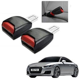 Auto Addict Car Seat Belt Extender Buckle Black Color Set of 2 Pcs For Audi TT