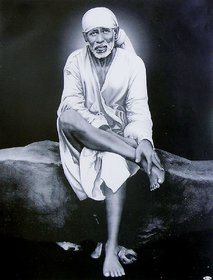 5 ACE SHRI SAI NATH WALL POSTER OF 300 GSM (12X18) WITHOUT FRAME |Sticker Paper Poster, 12x18 Inch