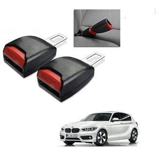 Auto Addict Car Seat Belt Extender Buckle Black Color Set of 2 Pcs For BMW 1 Series