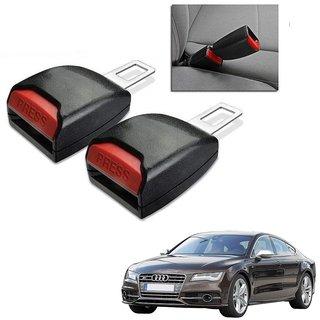 Auto Addict Car Seat Belt Extender Buckle Black Color Set of 2 Pcs For Audi NA