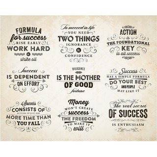 5 ACE MOTIVATIONALS QUOTES WALL POSTER OF 300 GSM (12X18) WITHOUT FRAME